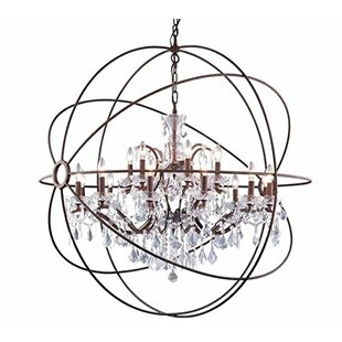 Online Reviews Farmington 15-Light Globe Chandelier By Rosdorf Park