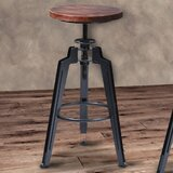 Louvenia Adjustable Height Swivel Bar Stool by 17 Stories