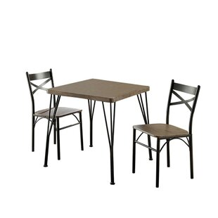 Deaton 3 Piece Dining Table Set by Williston Forge Best #1