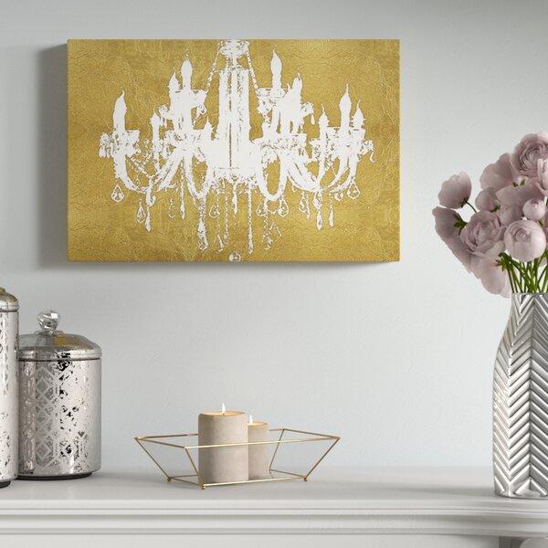 Gold Chandelier Canvas   Wayfair