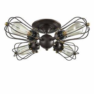 Gayla 4 -Light LED Semi Flush Mount by Williston Forge