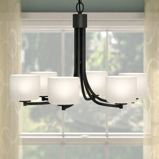 Rosalin 6-Light Shaded Chandelier by Latitude Run