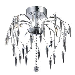 Pressler 8-Light Semi Flush Mo..