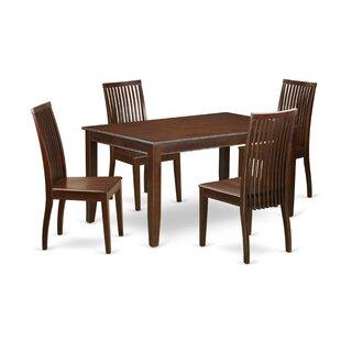 Alcott Hill Araminta 5 Piece Solid Wood Dining Set