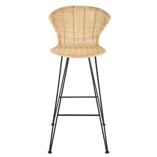 Meier Rattan 29 Bar Stool by Bayou Breeze #2