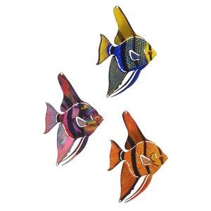 3 Piece Tetra Fish Wall Du00e9cor Set
