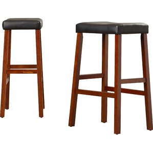 Newark 29  Bar Stools (Set ...  sc 1 st  AllModern : bar stools cherry wood - islam-shia.org