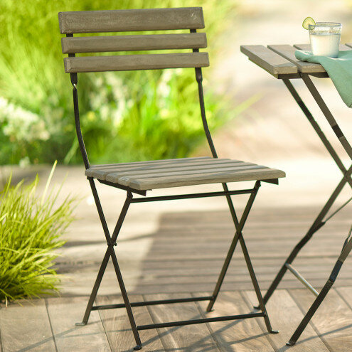 Marvelous Scheid Cement Metal Folding Patio Dining Chair Bralicious Painted Fabric Chair Ideas Braliciousco