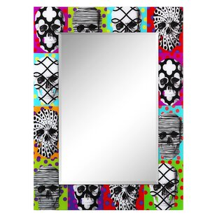Wrought Studio Biddle Skulls Accent Mirror