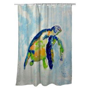 Tran Sea Turtle Single Shower Curtain