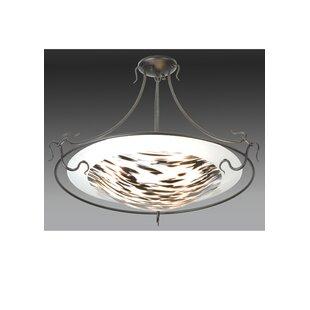 Meyda Tiffany Metro Fusion La Perla Nera 3-Light Semi Flush Mount