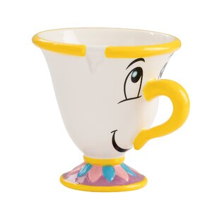 Beauty and the Beast Chip Sculpted Tea Cup (Set of 2)