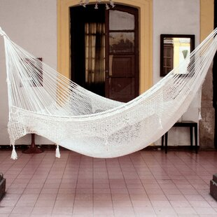 Novica Maya Artists of The Yucatan 'Endless Summertime Swing' Double Tree Hammock