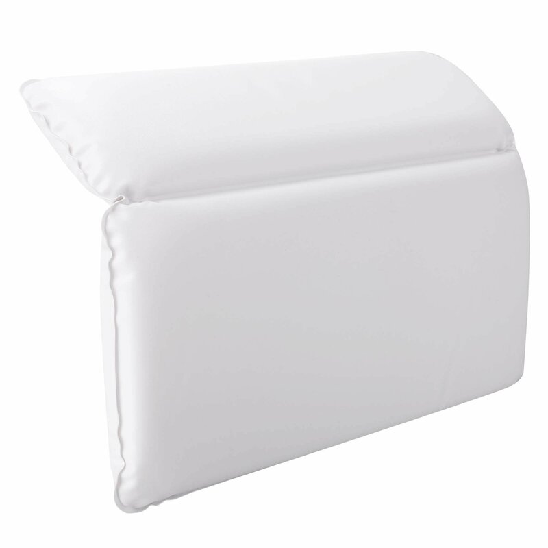 Symple Stuff Zaria Non Slip Spa Bath Pillow 2 Panel Powerful ...