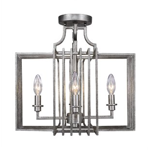 World Menagerie Caire 4-Light Semi Flush Mount