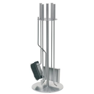 Chimo 5 Piece Stainless Steel Fireplace Tool Set By Blomus