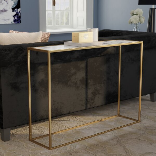 Brilliant Faux Marble Console Table Wayfair Caraccident5 Cool Chair Designs And Ideas Caraccident5Info