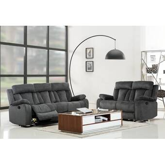 Red Barrel Studio Land 3 Piece Reclining Living Room Set Wayfair