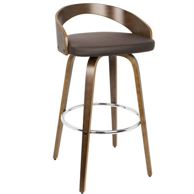 Prime Langley Street Wright Bar Counter Stool Color Walnutbrown Gamerscity Chair Design For Home Gamerscityorg
