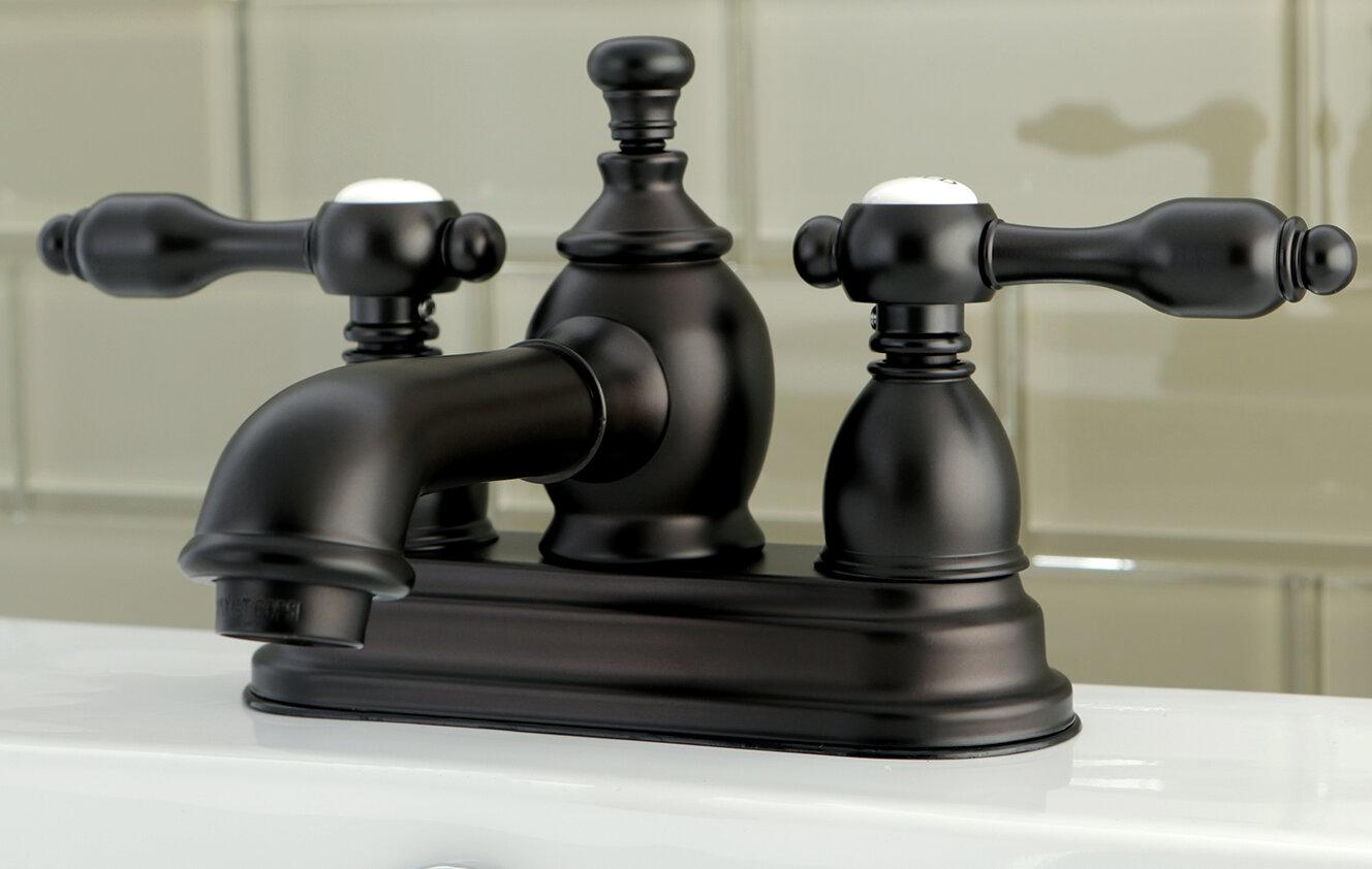 Kingston Brass Tudor Standard Centerset Bathroom Faucet with Drain ...