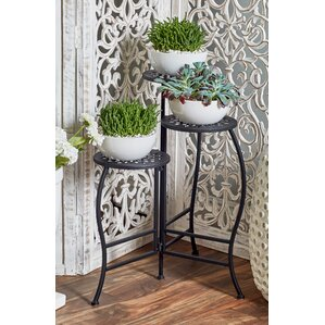 Chino Hills Modern Iron Pierced Top Design Folding Plant Stand