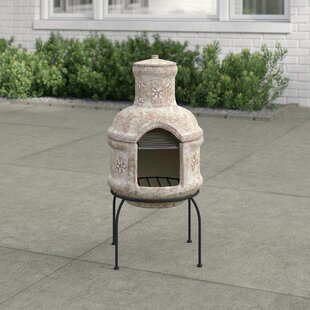 Slater Chiminea With Cooking Grill By World Menagerie