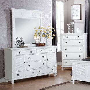 Look for Mapleton 6 Drawer Combo Dresser with Mirror by Darby Home Co
