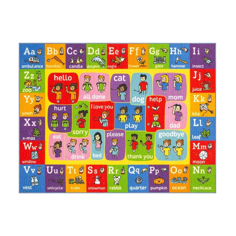 Zoomie Kids Perri Abc Alphabet Asl Sign