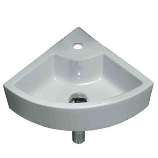 American Imaginations Unique Ceramic Specialty Wall-Mount Bathroom Sink with Faucet and Overflow