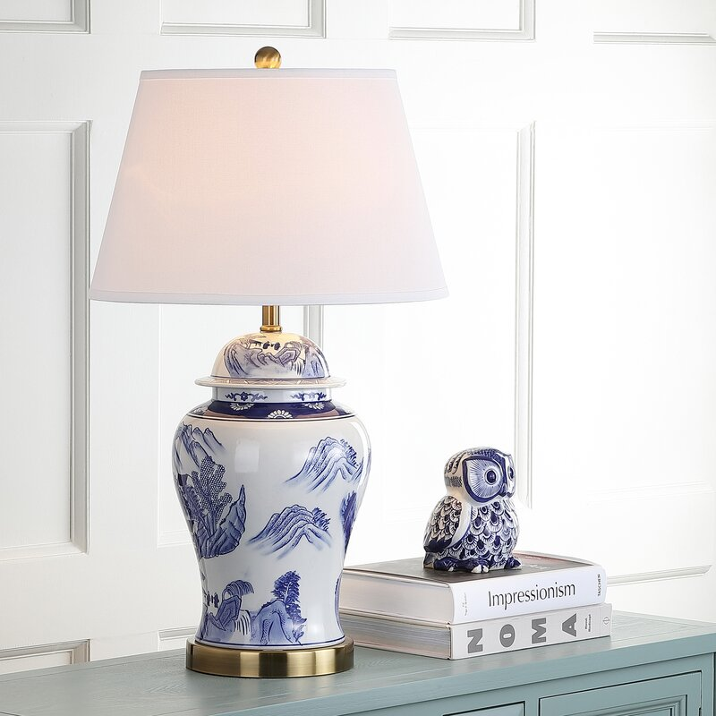 Safavieh shanghai ginger jar 29 table lamp reviews wayfair shanghai ginger jar 29 table lamp mozeypictures Gallery