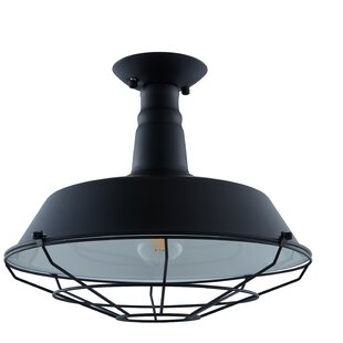 Mekhi 1-Light Semi Flush Mount by Longshore Tides