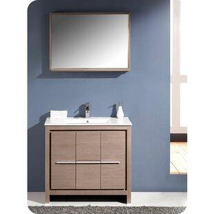 Allier 36 Single Bathroom Vanity Set with Mirror by Fresca