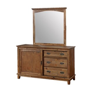 Millwood Pines Lucien 3 Combo Dresser with M..