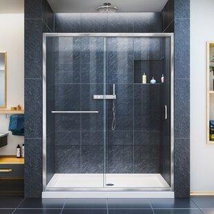 DreamLine Infinity-Z 36 in. D x 60 in. W x 74 3/4 in. H Clear Sliding Shower Door