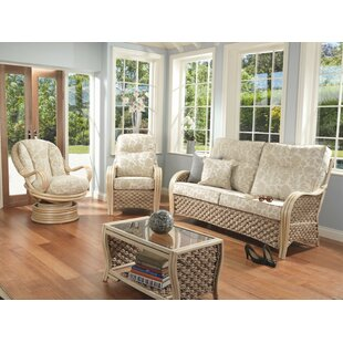 Alvey 4 Piece Conservatory Sofa Set By Rosalind Wheeler