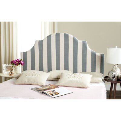 Arden Upholstered Panel Headboard Size: Full, Color: Gray / White