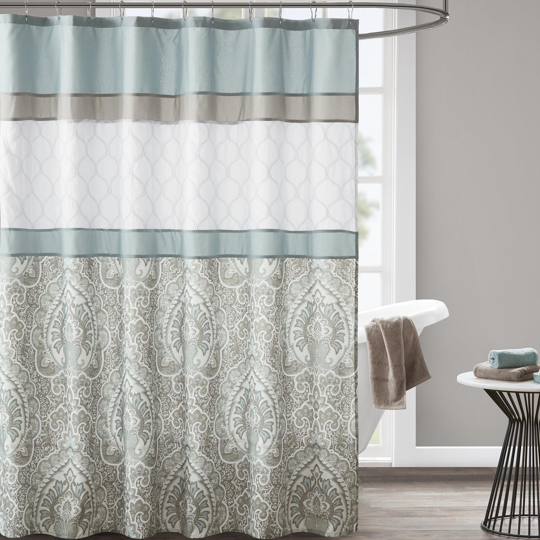Charlton Home Keller Microfiber Single Shower Curtain Reviews Wayfair