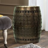 Multiple Purpose Hand Tooled Shaped 17 H x 11 W x 11 D Metal Stool by Saffron Fabs