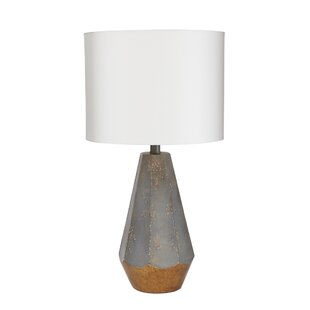 Modern bungalow rose table lamps allmodern rampal rustic prism 25 table lamp with accent mozeypictures Choice Image