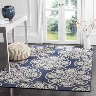 Wantaugh Navy/Cream Indoor/Outdoor Area Rug