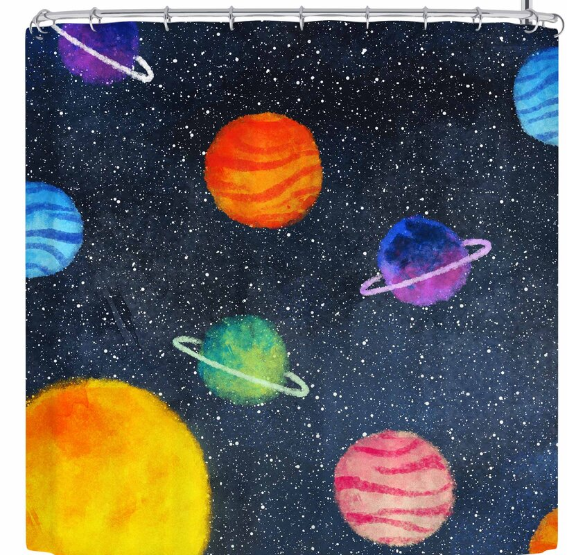 Strawberringo Universe Shower Curtain