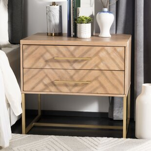 Everly Quinn Ally 2 Drawer Nightstand