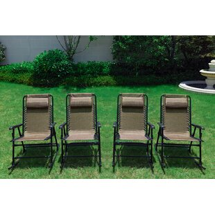 Enjoyable Steele Folding Rocking Chair Set Of 4 Gmtry Best Dining Table And Chair Ideas Images Gmtryco