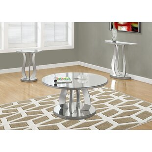 Latitude Run Tenafly 3 Piece Coffee Table Set