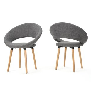 George Oliver Glastonbury Fabric Modern Upholstered Dining Chair (Set of 2)