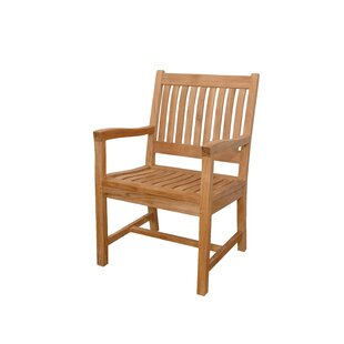 Rialto Teak Patio Dining Chair With Cushion by Anderson Teak Find