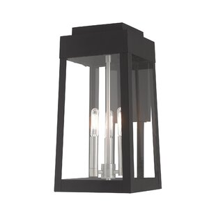 Canora Grey Mamie 3-Light Outdoor Wall Lantern