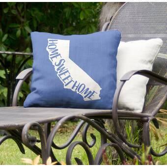 East Urban Home Home Sweet California Indoor Outdoor Throw Pillow Wayfair