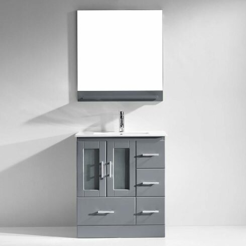 Duke 30 Single Bathroom Vanity Set With Mirror