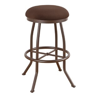 Hunley 34 Swivel Bar Stool Red Barrel Studio